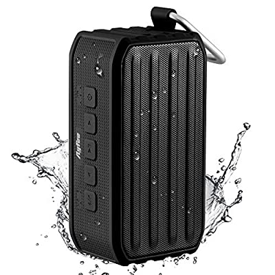 [Top Rated Waterproof Speaker] Ayfee Portable Bluetooth 4.0 Speaker, Rugged IPX6 NFC Bluetooth Waterproof Speakers with 7W Powerful Drive/Passive Bass Radiator for Outdoors and Shower