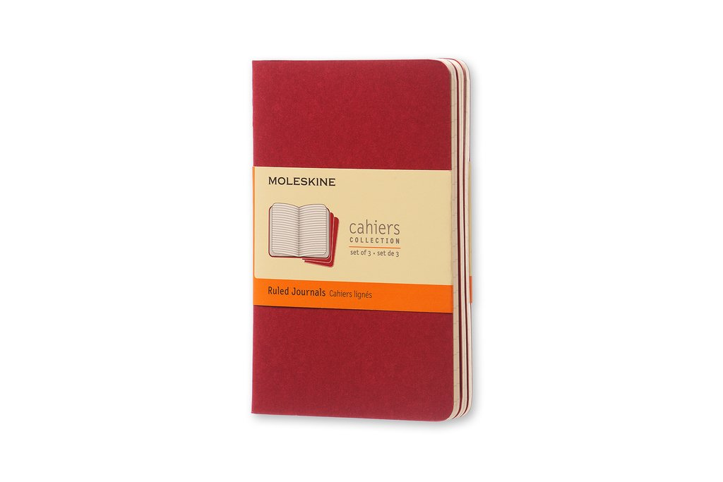 Cahier ruled pocket, red Moleskine S30956 Non-Classifiable Stationery items