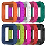 AWINNER Colorful Case for Garmin Forerunner 35 ,Shock-proof and Shatter-resistant Protective Silicone Case for Garmin Forerunner 35 GPS Running Watch (10-Colour)