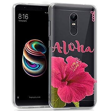 Urgemovil Carcasa Xiaomi Redmi 5 Plus Clear Aloha: Amazon.es ...