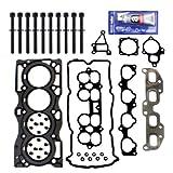 EH90171HBSI Head Gasket Set / Head Bolts Kit / RTV Hi-Temp Gasket Silicone for 02-06 Nissan 2.5L Altima / Sentra QR25DE Engine