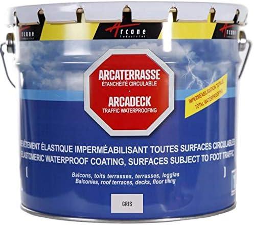Produit D Etancheite Terrasse Balcon Peinture Decorative Resine Revetement Protection Circulable Exterieur Arcaterrasse Gris 10 L Arcane Industries Amazon Fr Bricolage