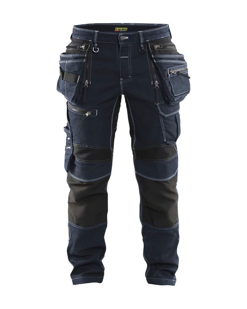 Blåkläder Craftsman Pantalones con estiramiento X1900 - Marino Azul / Negro - Talla C148 - en vaquero Cordura