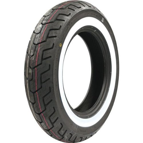 Dunlop D404 Tire - Rear - 150/90-15 - Wide White Wall , Speed Rating: H, Tire Type: Street, Tire Construction: Bias, Position: Rear, Rim Size: 15, Tire Size: 150/90-15, Load Rating: 74, Tire Application: Cruiser 32NM50