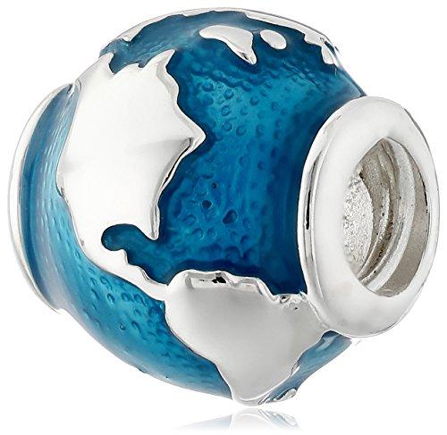 Chamilia 2020-0755 Sterling Silver Around The World Globe Bead (Chamilia Bead Jewelry)