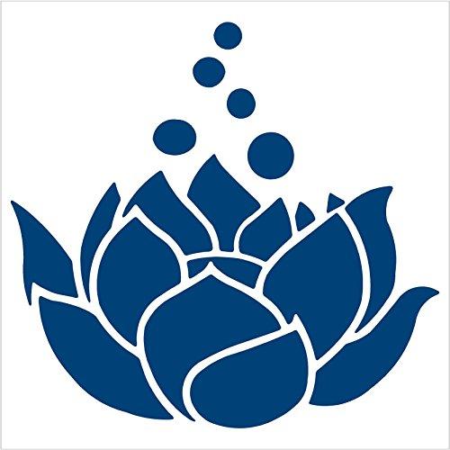 LOTUS FLOWER – Vinyl STICKER – DECAL (7″, Blue)
