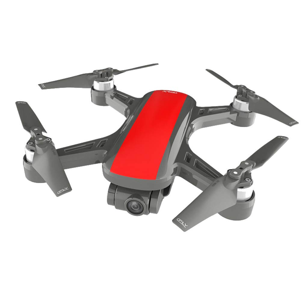 Toysgamer 2019 New C-Fly Dream GPS WiFi FPV with 2-Axis Gimbal 1080P HD Camera Optical Flow Drone RC Quadcopter (red)