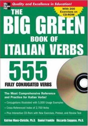 The Big Green Book of Italian Verbs (Book w/CD-ROM): 555 Fully Conjugated Verbs (Big Book of Verbs Series), Books Central