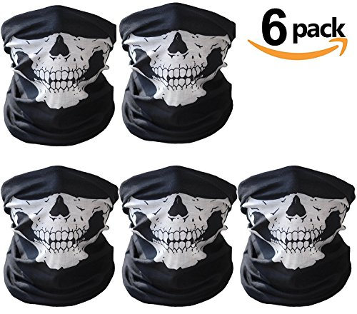 Motorcycle Face Masks, skull half face