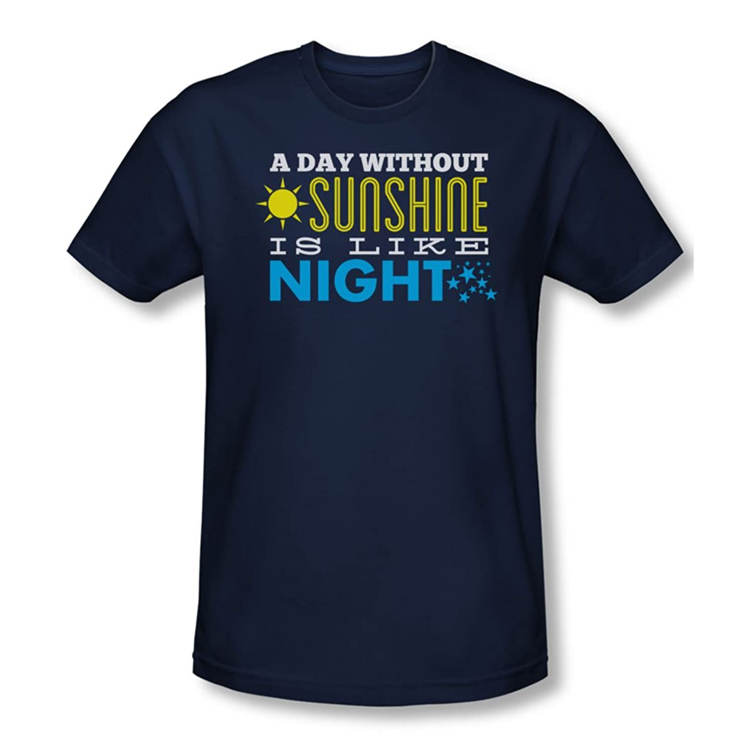 Sunshine - Mens Slim Fit T-Shirt In Navy, X-Large, Navy