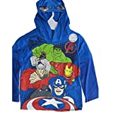 Marvels Little Boys Royal Blue Avengers Print Hooded Shirt 6