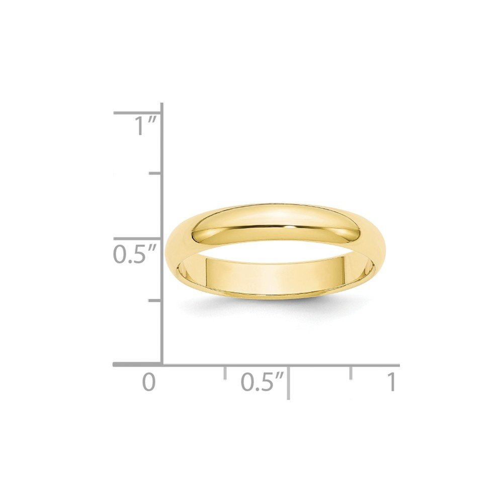 Diamond2Deal 10k Yellow Gold 4mm Half Round Wedding Band Fine Jewelry Ideal Gifts for Women