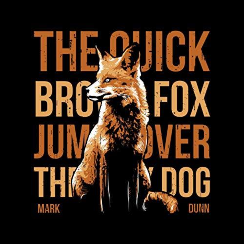 Fox Quick Women's Sweatshirt Quote Brown Hooded Black The Ax8wvx