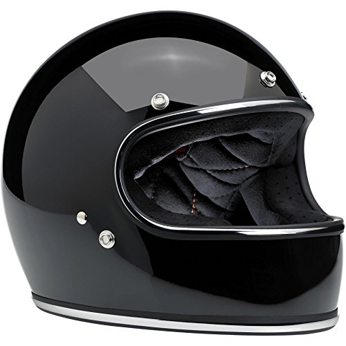 Biltwell Gringo Full Face Helmet (Gloss Black, - Gloss Full Helmet Face