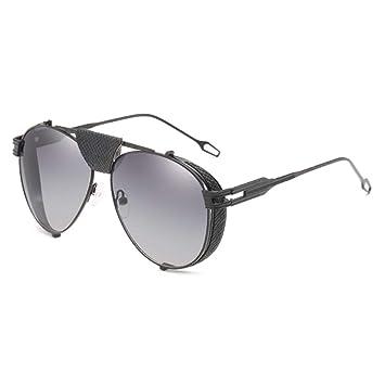 MINGMOU Espejo De Protección Gafas De Sol Hombres Oro Negro ...