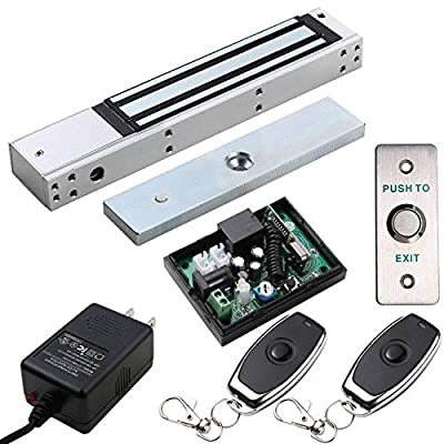 Access Control Outswinging Door 600lbs Electromagnetic Lock kit Remote Kit