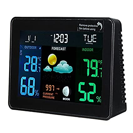 MYAMIA DC 4.5V Estación Meteorológica Reloj Digital Temperatura Humedad Medidor De Interior/Al Aire