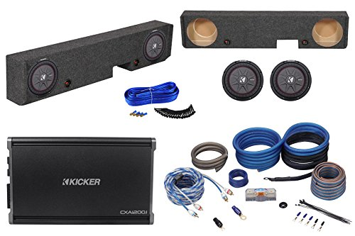 "10"" Kicker Subwoofers+Amp+Box+Amp Kit for 01-08 Ford F250/F350 Super Duty Xcab"
