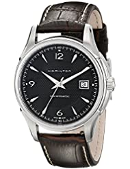 Hamilton Mens H32515535 Jazzmaster Analog Display Brown Watch