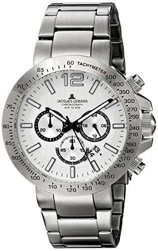 Jacques Lemans Men's 1-1759D Milano Analog Display Quartz Silver Watch