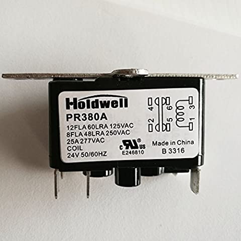Holdwell NO/NC 90380 24 Volt Coil Fan Relay