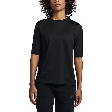 Nike Sportswear Bonded Women's Half Sleeve Tops Black