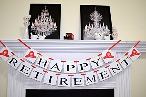 Firefighter Retirement Banner Firefighter Retirement Decorations Fireman Retirement Sign Firefighter Retirement Party Party Decorations Fireman
