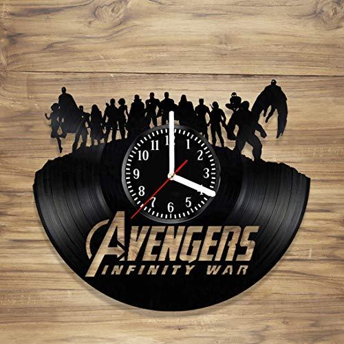 - DecorArt Studio Avengers Vinyl Record Wall Clock Marvel Comics Spiderman Iron Man Infinity War Thor Handmade Art Home Unique Gift idea Him Her (12 inches)