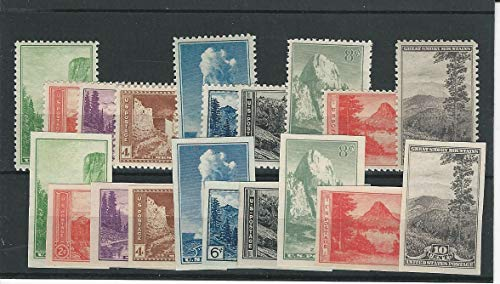United States, Postage Stamp, 740-749, 756-765 Mint NH, 1934 Parks, JFZ