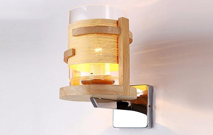 Lytsm lampada da parete lampada da parete in legno massiccio