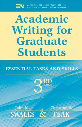 Academic Writing for Graduate Students: Essential Tasks and Skills (Best Graduate Schools For Creative Writing)