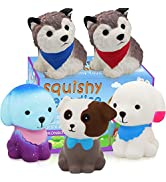 POKONBOY Jumbo Squishy Toy Squishies Dog 5 Pack Kawaii Cream Scented Squishies Party Supplies Toy...