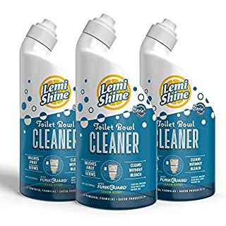 Lemi Shine Toilet Bowl Cleaner, Thick Gel Formula With Natural Lemon Scent, 24oz, 3 Pack