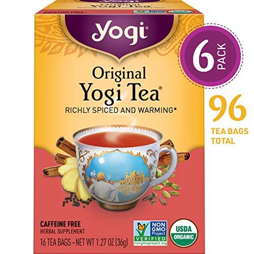 Yogi Tea - Original Yogi Tea - Richly Spiced and Warming - 6 Pack, 96 Tea Bags Total