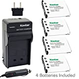 Kastar Battery (4-Pack) and Charger