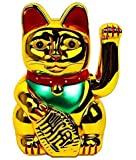 Monkey King Gold Feng Shui Lucky Cats Lucky Beckoning Waving Wealth Cat Maneki Neko 6 Tall