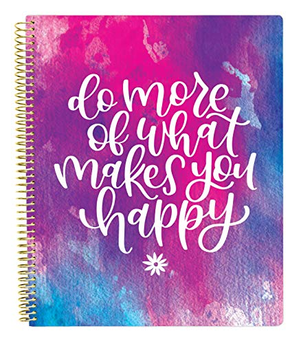 "bloom daily planners All in One Ultimate Monthly & Weekly Undated Calendar Planner, Notebook, Sketch Book, Grid Pages, Coloring Book and More! 9"" x 11"" Do More of What Makes You Happy"