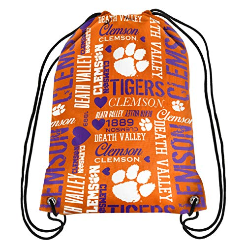 Clemson Womens Collage Drawstring Backpack