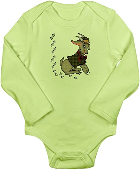 5da32ba4771 Amazon.com  CafePress - Cute Cartoon Boy Goat Long Sleeve Infant Bodysuit -  Cute Long Sleeve Infant Bodysuit Baby Romper  Clothing