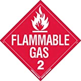 Labelmaster Z-PL8 Flammable Gas Hazmat Placard, Worded, Polycoated Tagboard (Pack of 25)