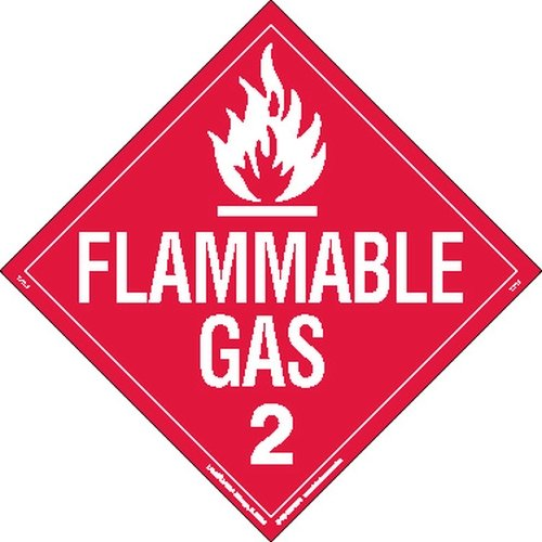 Labelmaster Z-PL8 Flammable Gas Hazmat Placard, Worded, Polycoated Tagboard (Pack of 25) by Labelmaster®