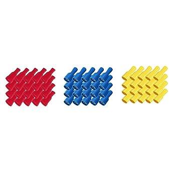 10 vollisolierte Flachsteckhülsen 6,3x0,8 gelb 4,0 bis 6,0 mm² 0,23 EUR//Stück