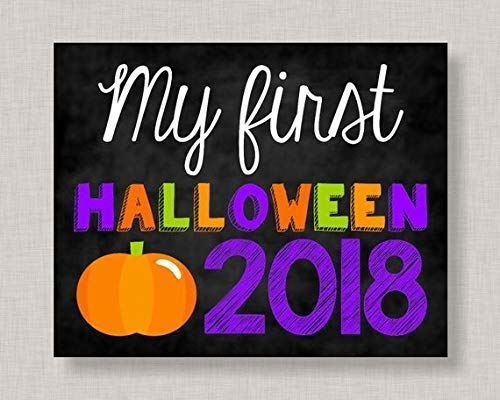Iliogine Decorative Wooden Sign My First Halloween Sign First Halloween My First Halloween Wood First Halloween Wood Printable My First Sign Home Wall Art Plaque Craft -