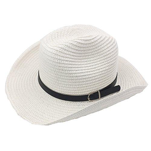 IFSUN Mens Womens Foldable Summer Straw Hat Wide Brim Fedora Sun Beach Hat