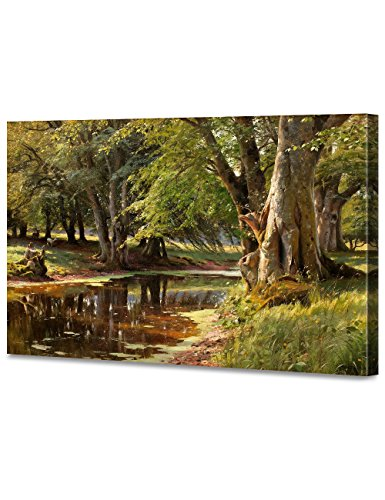 PEDER MONSTED POSTER River Bank Landscape Art Print