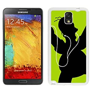 NEW Unique Custom Designed Samsung Galaxy Note 3 N900A N900V N900P N900T Phone Case With Homer Simpson Black Green Headphones_White Phone Case