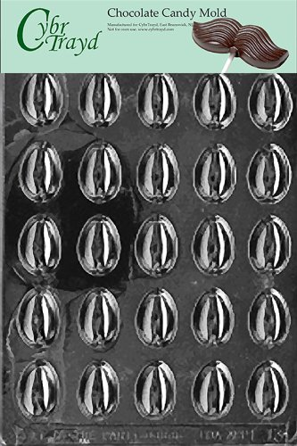 Cybrtrayd E013 Small Eggs Chocolate/Candy Mold with Exclusiv