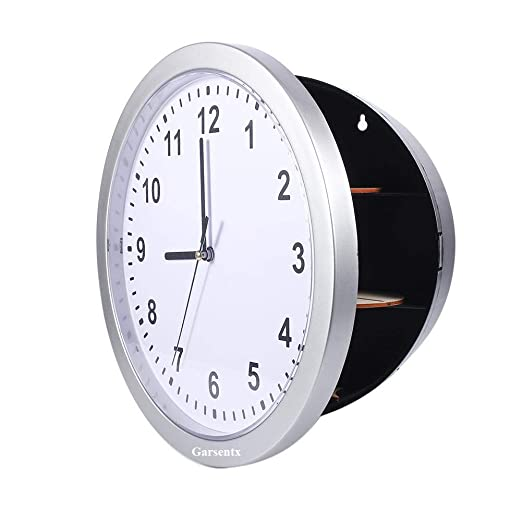 Garsent Reloj de Pared con Caja de Seguridad Oculta, Reloj Secreto ...