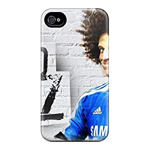 High Quality The Best Player Of Chelsea David Luiz In Afro Style Case For Iphone 4/4s / Perfect Case