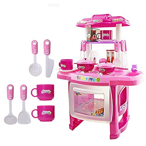 372147CM Kid Kitchen Cooking Pretend Role Toy Play Set Lights Sound Electronic (Ferrari Car Pic compare prices)